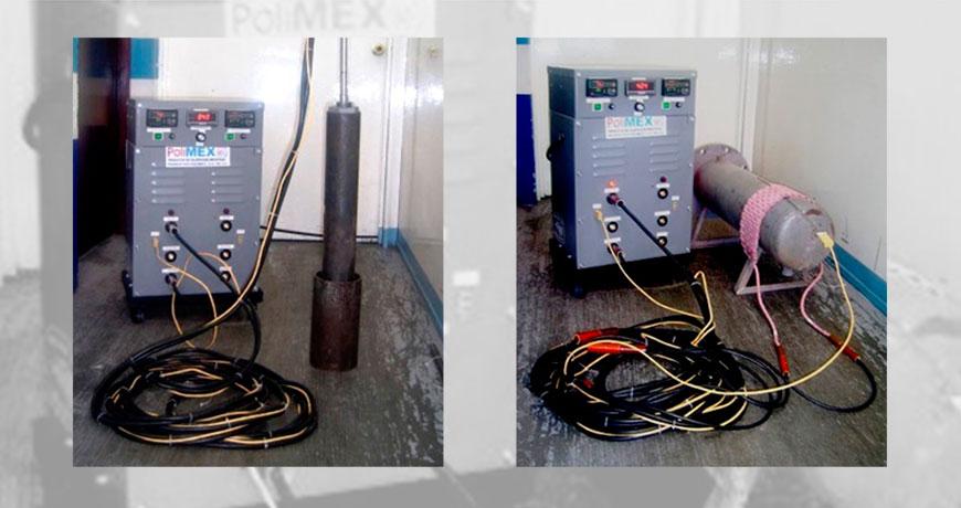 Resistencias para calentamiento de pernos y turbinas - Polimex.mx